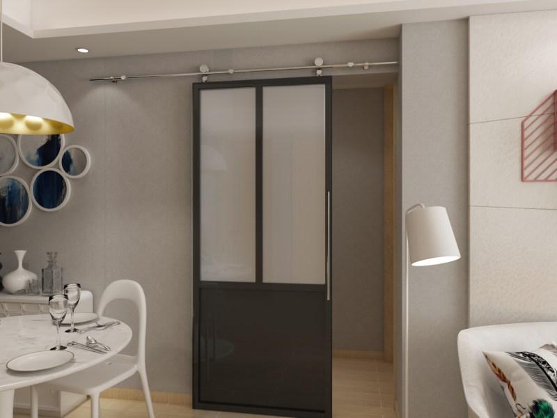 Porte coulissante en aluminium